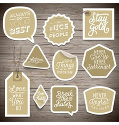 slogans stickers abstract always do your best vector image vector image