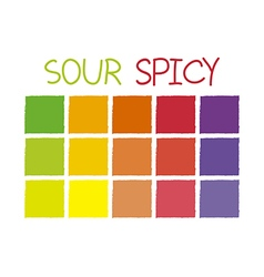 Sour spicy color tone without code vector