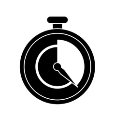 Stopwatch fast delivery symbol pictogram vector