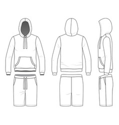sweatshirt and shorts vector image