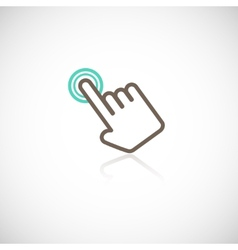Touching hand icon vector image vector image