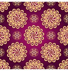 Vintage dark purple seamless pattern vector image