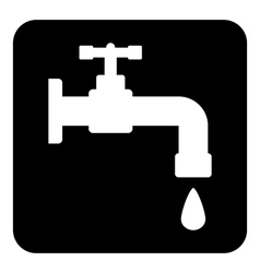 Water tap button vector image