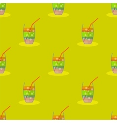 Cocktail seamless pattern beverage background vector