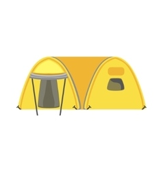 Yellow large family bright color tarpaulin tent vector