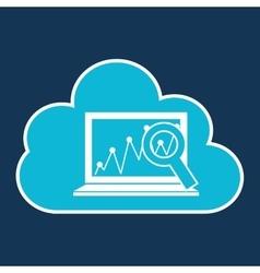 Cloud code developing laptop analytics vector