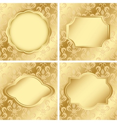 set of cards with golden texture vector image