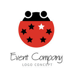 Logo concept with funny red vector