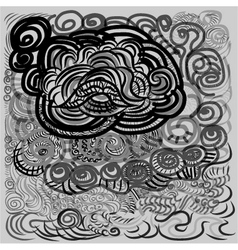 Abstract hand-drawn pattern vector