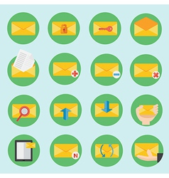 Email communication icon in flat design vector