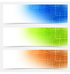 Bright web headers templates colorful collection vector