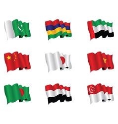Asian flags vector