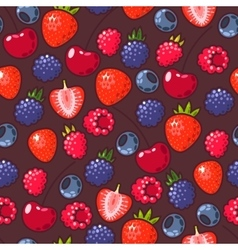 Seamless berries vector