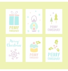 Set of 6 christmas cards vector