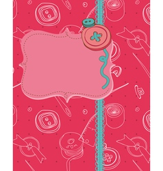 Buttons greeting card vector