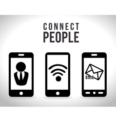 Mobile connect design vector