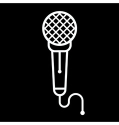 Microphone Icon on a black vector image