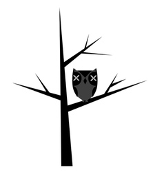 Abstract tree with stylized owl vector image