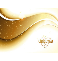 Abstract golden glittery christmas design vector