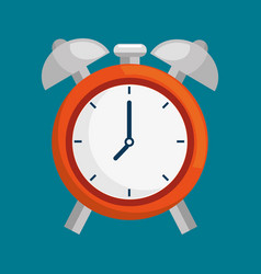 Alarm time clock isolated icon vector