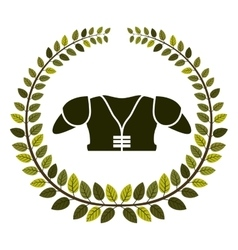 Arch of leaves with american football chest vector
