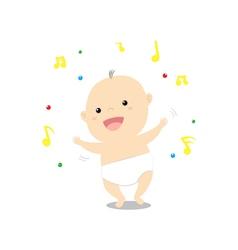Baby dancing vector