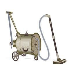 Barrel vacuum cleaner vector