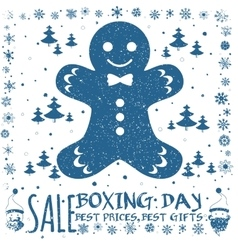 Boxing day card vector image vector image