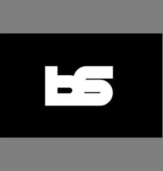 bs b s black white bold joint letter logo vector image vector image