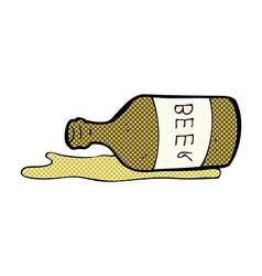 Comic cartoon spilled beer vector