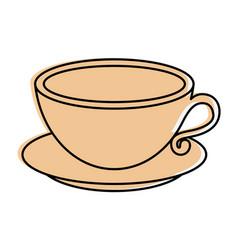 Delicious coffee mug vector