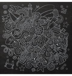 Doodles abstract decorative marine nautical vector