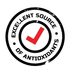 Excellent source of antioxidants stamp vector image vector image