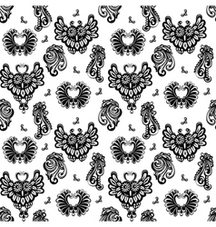 floral designs and owls vector image vector image