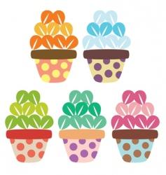 flower pots vector image vector image