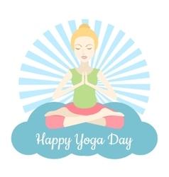 Happy Yoga Day vector image