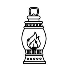lantern torch icon design vector image vector image