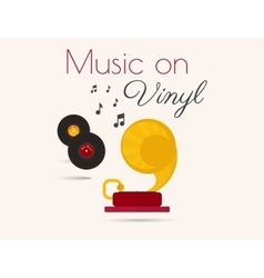 Music on vinyl vector image vector image