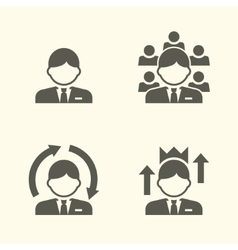 Office guy portrait icons vector image