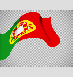 portugal flag on transparent background vector image vector image