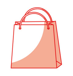 Shadow shopping bag cartoon vector