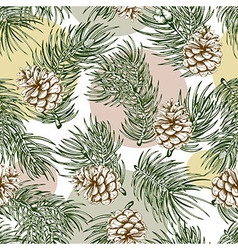 Spruce seamless pattern vector image vector image