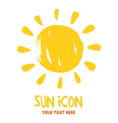 Sun burst logo icon vector