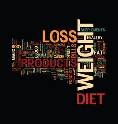 The magic of weight loss text background word vector