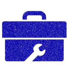 Toolbox icon grunge watermark vector
