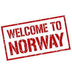 Welcome to norway stamp vector