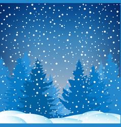Winter snowy night vector