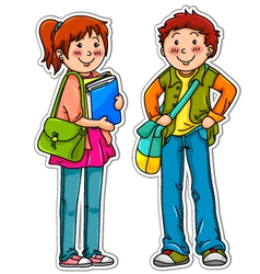 young students vector image vector image