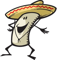 Happy burrito vector