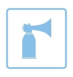 Football fans air horn aerosol icon vector